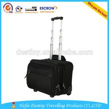 2014 hot sale black 1680D Nylon trolley bag custom made wheeled trolley bag