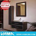 V-16018 parede de madeira sólida barato pia do banheiro armário baixo