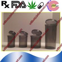 Clear Pop Top Hinged dram Medical Plastic snap caps vials