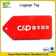 Soft pvc travel luggage tag