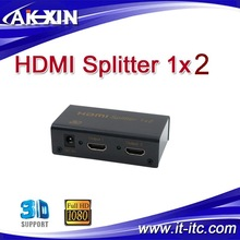 1 in 2 out HDMI Splitter to coaxial Full HD/3D 1080p Hdmi Splitter1x2