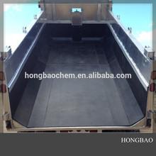 Preto forro caminhão / super folha de cama de solteiro / auto lubrificante uhmw placa