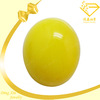 oval yellow cabochon machine glass gemstones, beads for jewellery making, wholesale fake diamond