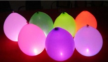 LED Balloons Colorful Light Glow-in-the-dark Bubble Wedding Dance Party Club Rave Latex (5 Colors In One Pack)