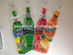 qingdao Bottle shape cheap plastic bags packing juice bag