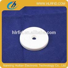 Waterproof RFID smiling shape 13.56mhz rfid laundry tag