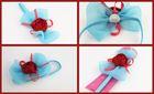 Infant Toddler baby Christmas chiffon shabby rose flower headband