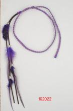 beautiful headband /braided fabric and purple feather/2014 new style