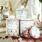 800CC Elegant Fine New Bone China Ceramic Tea Coffee Sugar Containers of Spring in Paris