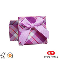 Ribbon Bowtie Design Paper Colorful Box for Jewelry/Gift Packaging Made in China