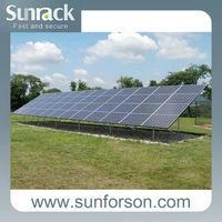 50Kw pv panel mounting system/ground screw solar rack system/solar brackets
