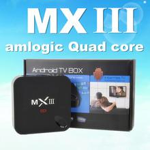 MX III TV BOX Android 4.4 Quad core AMLogic S802 2.0GHz (Cortex-A9) Mali-450 XBMC Preloaded Android smart tv box