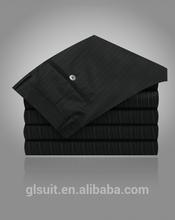 2015 lastest design 70% wool black stripes man trousers