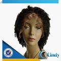 Best selling alta qualidade emaranhado free100% humanos cabelo preto curto encaracolado afro perucas do traje