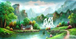 wall art decor waterfall oil paintings on canvas