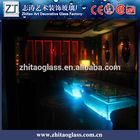 modern KTV led glass black high gloss coffee table