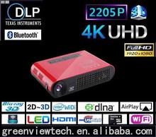 Full HD 3D DLP projector,convert 2D to 3D dlp led projector with 300 lumin brightness