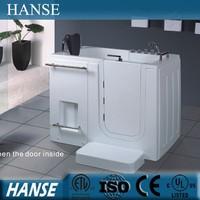 HS-B1111 acrylic tub shower combo/ walk in tub shower combo/ corner bathtub for handicap people