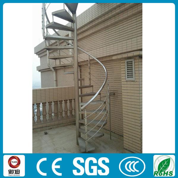Prefabbricati di ferro per esterni utilizzati anti- fuoco scale a chiocciola-Scale-Id prodotto ...