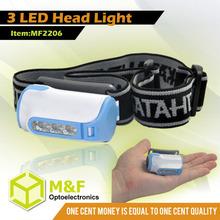 3 LED Most Powerful Emergency Headlamp Bike Head Lamp
