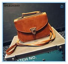 England Style Retro One Strap Shoulder Bag Women Brown Color Handbag