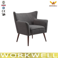 WorkWell modern new design high quality dining indoor chairs with Rubber wood legs Kw-D4224-1