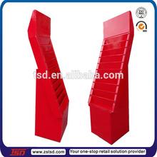 TSD-C513 corrugated comic book display shelf,cardboard free standing post card display stand