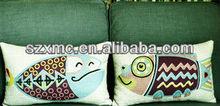 HOT SALE !simple design wholesale double fish image back cushion