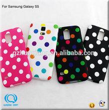 NO MOQ~China wholesale polka dot soft tpu case for samsung galaxy s5 case cover