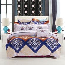 vintage style plaid 2014 hot bed linens fitted skirt pillow/cushion 100% cotton 3d reavtive printed bedding set