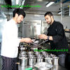 High Quality Classic Black Color Movable Stud Buttons Black Long Sleeve Chef Uniforms Chef Jacket for sale