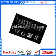 BL-5C 1050mAh cheap phone battery for Nokia N70 N71 N72 6670 3100 E50
