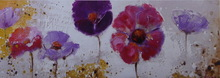 Morden flower Oil Painting Abstract Flowers on canvas for wholesale