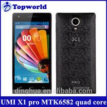 2014 China phone Umi X1 PRO Quad-core MTK6582 4.7 inch HD screen 3G low price china mobile phone