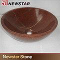 personalizado red stone pia da cozinha