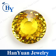 wholesale fancy cut golden yellow semi precious cz gems