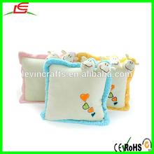 small lamb baby cushion plush sheep cushion