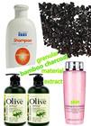 Granular bamboo charcoal as toner/skin cream oil/liquid shampoo/carifiant materials