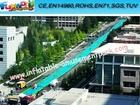 New popular inflatable city water slide, Summer giant slick slide,300m length slip N slide for water party event from FUNWORLD