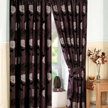 turkey style window curtain polyester classical circle design jacquard curtain for home textiles
