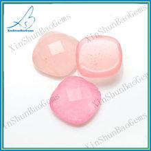 Wholesale Machine Cut Natural Stone Rose Quartz for Earrings