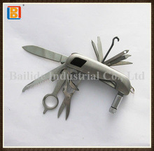 High Quality Multi Function Pocket Stainless Steel Utility Knife With LED