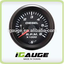 52mm 0-6000 rpm meter Electrical Tachometer Gauge for Diesel