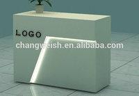 wooden counter for receptiom