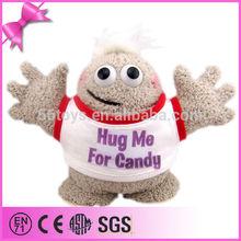cheap wholesale soft stuffed lovely mr fuzzy plush worm toy