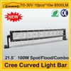 "Hotsale cree 21.5"" 8500LM 100W led offroad light bar 4x4"