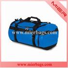 70-80L large capacity Blue Waterproof Tarpaulin sport duffel backpack bag