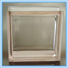Pink Transparent Glass Block For Decorative Wall With High Quality
