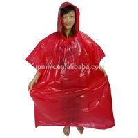 Promotional Customer design Disposable Gravure Printing PE Rain Poncho