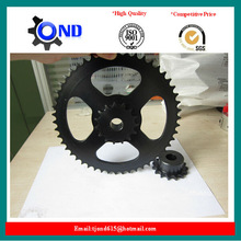 Double Motorcycle Sprocket and Chain(black oxidation treatment)